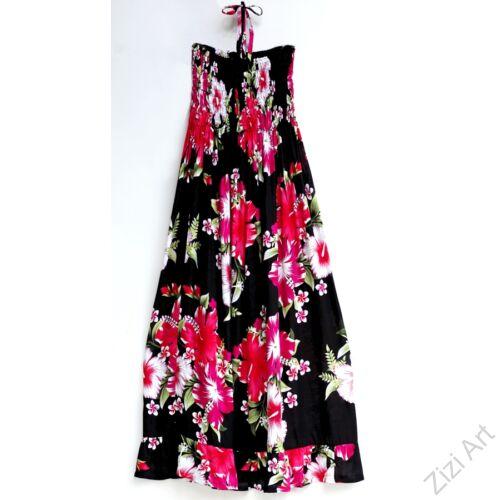 hosszú, fekete, pink, kék, színes, virágos, romantikus, női, ruha, kényelmes, szellős, divat, bohém, extravagáns, trend