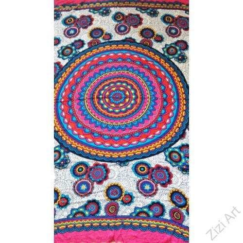 sarong, fehér, színes, pink, kék, zöld, kendő, sál, strandkendő, pareo, mandala
