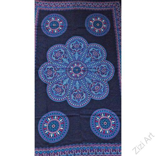 sarong, fekete. kék, színes, kendő, sál, strandkendő, pareo, mandala