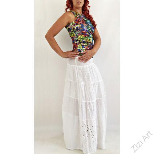 fehér, hosszú, pamut, csipke, horgolt, vállpántos, szoknya, ruha, török, karcsúsított, A-vonalú, virágos, szellős, alkalmi, könnyű, különleges, női, divat, trend, webshop