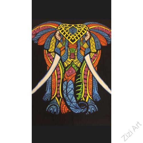 színes, pamut, vászon, ágytakaró, faltakaró, keleti, elefánt, mintás, lakástextil, otthon, keleti kultúra, trend