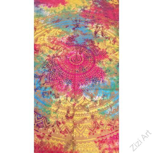 színes, pamut, vászon, ágytakaró, faltakaró, keleti, mandala, mintás, lakástextil, otthon, keleti kultúra, trend
